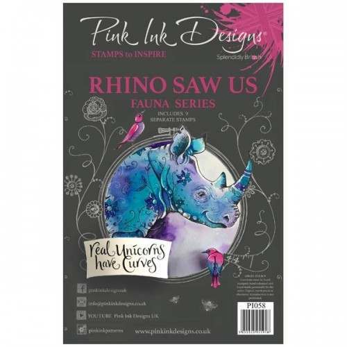 Pink Ink Designs - Rhino Saw Us A5 Clear Stamp